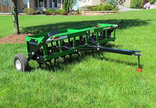 Aerator And Seeder : Lawn aeration seeding service a cut above