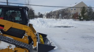Snow Plowing with Bobcat